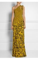 Moschino Cheap & Chic One-shoulder Printed Silk Crepe De Chine Gown - Lyst