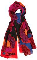 Diane Von Furstenberg Rose Gate-print Scarf - Lyst
