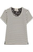 Sea Lace-backed Striped Cotton-jersey T-shirt - Lyst