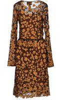 Class Roberto Cavalli Kneelength Dress - Lyst