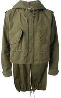 Saint Laurent Hooded Jacket - Lyst