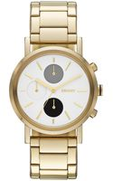 DKNY Womens Chronograph Lexington Goldtone Stainless Steel Bracelet Watch 38mm - Lyst