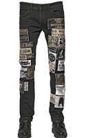 Diesel 17cm Patches On Cotton Denim Jeans - Lyst