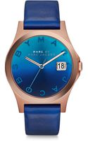 Marc By Marc Jacobs Slim Rose Goldtone Stainless Steel  Leather Ombre Strap Watchblue - Lyst