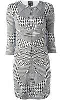 McQ by Alexander McQueen Houndstooth Print Dress - Lyst