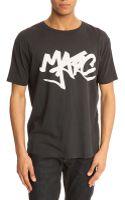 Marc By Marc Jacobs Tag Marc Black Tshirt - Lyst