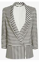 Veronica Beard Striped Jacket - Lyst