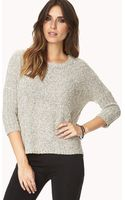Forever 21 White Noise Textured Knit - Lyst