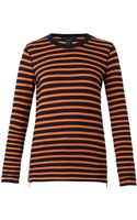 Marc By Marc Jacobs Tomiko Striped Zip Top - Lyst