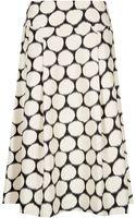 Jacques Vert Spot Print A Line Skirt - Lyst