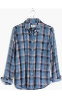 Madewell Flannel Cozy Shirt in Blue Plaid - Lyst