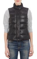Mackage Leather Puffer Vest - Lyst