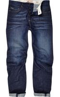 River Island Dark Wash Curtis Slouch Jeans - Lyst