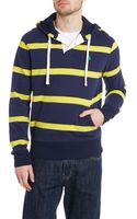 Polo Ralph Lauren Striped Hooded Sweatshirt - Lyst