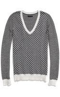 Tommy Hilfiger Foulard V-neck Sweater - Lyst