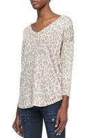 Joie Chyanne Leopardprint Knit Sweater - Lyst