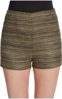 BCBGeneration High-waisted Tweed Shorts - Lyst