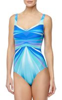 Gottex Seraphine Rayprint Onepiece Swimsuit - Lyst