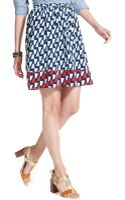 Tommy Hilfiger Printed Pleated Aline Skirt - Lyst