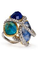 Alexis Bittar Sodalite Chrysocolla Lapis Encrusted Vine Ring - Lyst