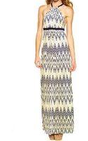 T-bags Los Angeles Zig Zag Maxi Dress - Lyst
