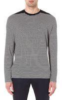 Lanvin Striped Long-sleeve Top - Lyst