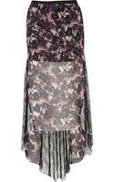 River Island Black Print Fishtail Lace Maxi Skirt - Lyst