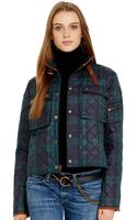 Polo Ralph Lauren Leather-trim Quilted Plaid Jacket - Lyst