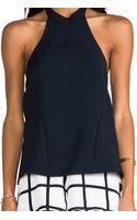 Finders Keepers Once Again Top in Navy - Lyst
