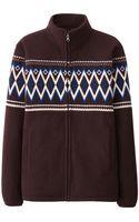 Uniqlo Printed Fleece Full-zip Long Sleeve Jacket - Lyst