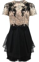 Notte By Marchesa Rose Tattoo Lace Cocktail Dress - Lyst