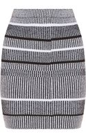 T By Alexander Wang Rib Knitted Stretch Skirt - Lyst