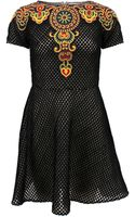Valentino Embroidered Dress - Lyst