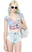 Nasty Gal Back Out Crop Top - Lyst