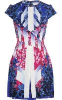 Peter Pilotto Mira Printed Stretch-silk Dress - Lyst