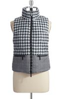 Michael by Michael Kors Houndstooth Vest - Lyst