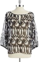 Trina Turk Patterned Peasant Top - Lyst