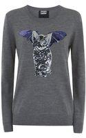 Markus Lupfer Catbat Sequin Sweater - Lyst