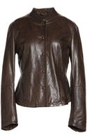 Weekend By Maxmara Leather Outerwear - Lyst