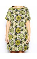 Asos Curve Exclusive Shift Dress in Digital Floral - Lyst