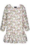 Cynthia Rowley Jeweled Floral Print Exaggerated Flounce Dress - Lyst