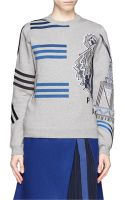 Kenzo Tiger and Stripe Embroidery Sweatshirt - Lyst