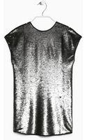 Mango  Sequin Shift Dress - Lyst