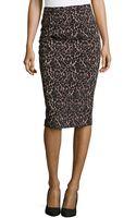 Michael Kors Floral Lace Knee-length Pencil Skirt - Lyst