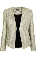 Topshop Tailored Crop Boucle Jacket - Lyst