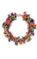 Venna Diana Jewel Pompom Bead Necklace - Lyst