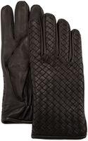 Bottega Veneta Mens Woven Leather Gloves - Lyst