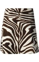 Michael by Michael Kors Zebra Print Skirt - Lyst