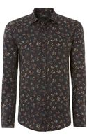 Diesel Sdinar Floral Print Shirt - Lyst