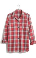 Madewell Exboyfriend Shirt in Cherry Plaid - Lyst